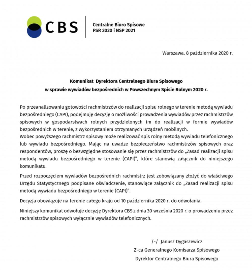 komunikat CBS-1