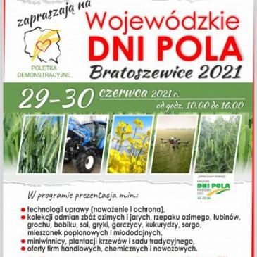 Wojewódzkie Dni Pola Bratoszewice 2021
