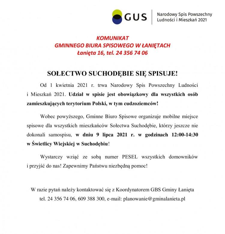 komunikat Sołectwo Suchodębie-1-1